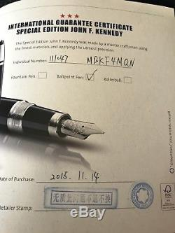 Montblanc Great Characters Special Edition J. F. Kennedy Rollerball Pen