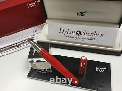 Montblanc Marc Newson red M pen rollerball pen NEW + papers + boxes