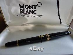 Montblanc Meisterstuck 163 Black/Gold Rollerball Pen New & Authentic Gift Box