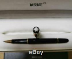 Montblanc Meisterstuck 163 Black and Gold Rollerball Pen Germany Authentic