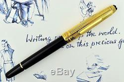 Montblanc Meisterstuck 163DV Solitaire Doue Black & Gold Plated Rollerball Pen