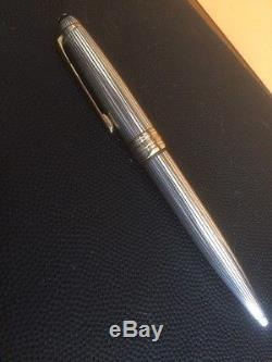 Montblanc Meisterstuck 925 Sterling Silver Pinstripes Rollerball Pen