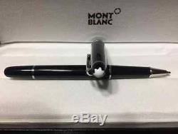 Montblanc Meisterstuck Black/PLATINUM Rollerball Pen 163 New with Gift Box