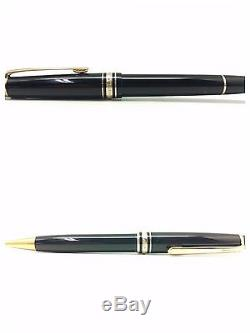 Montblanc Meisterstuck Fountain Pen And Rollerball Set In Genuine Leather Wallet