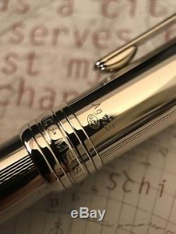 Montblanc Meisterstuck Solitaire AG925 Pure Silver 163 Classique Rollerball Pen