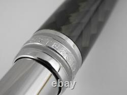 Montblanc Meisterstuck Solitaire Carbon Steel Rollerball Pen FREE SHIPPING
