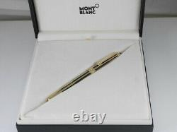 Montblanc Meisterstuck Solitaire Gold Plated and Black Rollerball Pen NEAR MINT