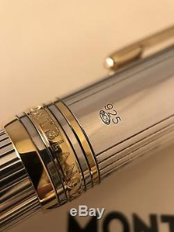 Montblanc Meisterstuck Solitaire Silver LeGrand Rollerball Pen Very Rare