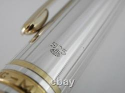 Montblanc Meisterstuck Solitaire Sterling Silver Pinstripe Rollerball Pen
