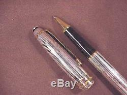 Montblanc Meisterstuck Sterling Silver Classique Size Rollerball Pen
