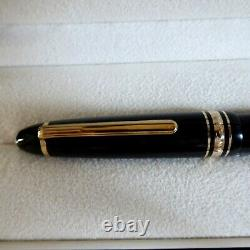 Montblanc Meistierstuck Le Grand 162 Rollerball Pen In Gold Trim -boxed With Ser