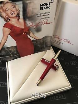 Montblanc Muses Marilyn Monroe Special Edition Rollerball Pen Never Used