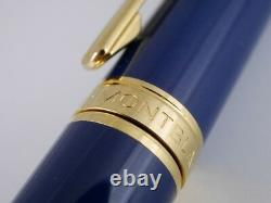 Montblanc Noblesse Oblige Blue GT Rollerball Pen FREE SHIPPING WORLDWIDE