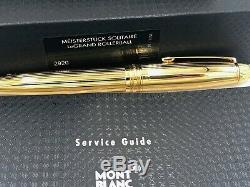 Montblanc Pinstripe Solitaire Legrand Gold On Silver (vermeil) Rollerball