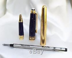 Montblanc RAMSES II Rollerball Pen LAPIS BLUE & 925 Gold plated Silver