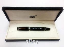 Montblanc Rollerball 5098 Boheme Onyx Black/Platinum Cap Pen withBox New Gift