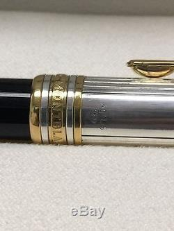 Montblanc SOLITAIRE Doue STERLING SILVER Rollerball Pen (. 925) $850 Retail