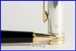 Montblanc Solitaire 925 STERLING Silver 163 Classique RollerBall Pen PIN STRIPE
