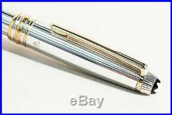Montblanc Solitaire 925 STERLING Silver 163 Classique RollerBall Pen PIN STRIPED