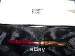 Montblanc Solitaire Doue & Bordeaux Rollerball Pen 163dv New In Box