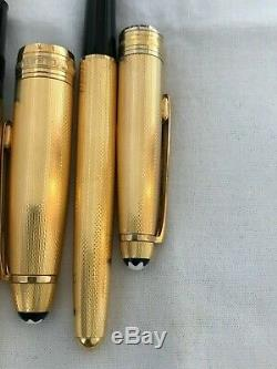 Montblanc Solitaire LeGrand 146 FP + 163 Rollerball Pen-Vintage, W. Germany
