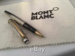 Montblanc Solitaire Sterling Silver Ag925 Rollerball Pen Barley Pattern RARE