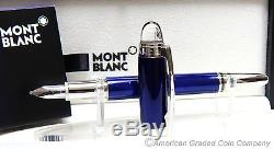 Montblanc StarWalker Cool Blue Fountain Pen (M) Nib NEW in BOXES & INK! #9976