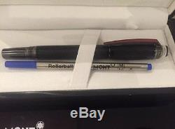 Montblanc Starwalker Extreme Rollerball Black Red With Extra Refill & Pouch New