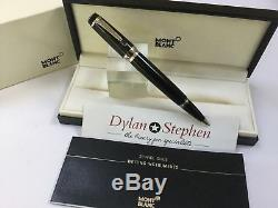 Montblanc boheme noir platinum and resin rollerball pen with all boxes + ink