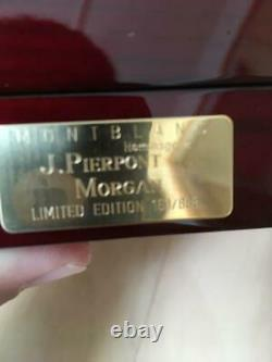Montblanc jp Morgan 888 limited edition beauty products fountain pen