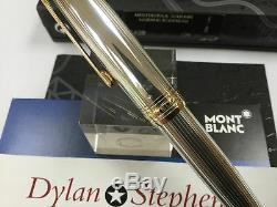 Montblanc meisterstuck solitaire legrand 162 sterling silver rollerball pen