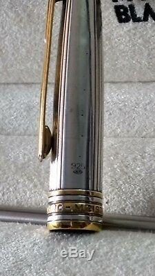 Montblanc solitaire 925 sterling silver roller ball pen