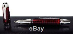 NEW Montblanc Boheme Paso Doble Rouge Red & Platinum Roller Ball Pen 104926