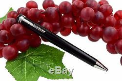 NEW Montblanc Heritage Collection 1912 Black Resin Capless Rollerball Pen 112542