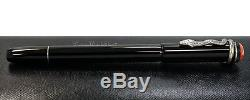 NEW Montblanc Heritage Rouge & Noir Special Ed. Black Roller-Ball Pen 114723