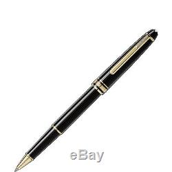 NEW Montblanc Meisterstück Gold-Coated Classique Rollerball Pen MB Mont Blanc