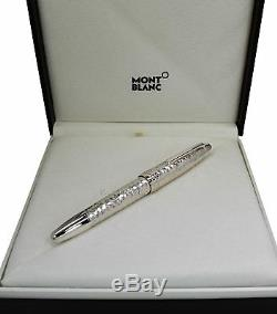 NEW Montblanc Meisterstuck Martele Silver Le Grand Rollerball Pen 115098