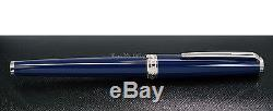 NEW Montblanc PIX Collection Blue & Platinum-plated Roller Ball Pen 114809