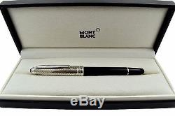NOS + BOX Montblanc Meisterstuck 163 Solitaire Doue Silver Barley Rollerball Pen