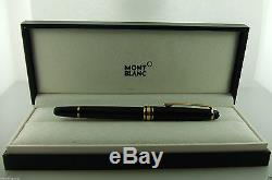 New MONTBLANC Classique 163 Rollerball Pen Black with Gold
