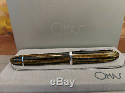 OMAS 360 Burkina Celluloid with Sterling Silver Trim Rollerball Pen, NOS
