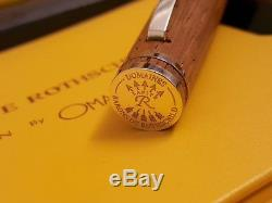 OMAS Chateau Lafite Rothschild Sterling Silver Wood Limited Edition Fountain Pen