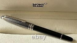 Original MONTBLANC 163 Meisterstück Solitaire Doue Black and White Rollerball