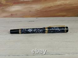 PARKER Duofold International Size Blue Marbled Rollerball Pen, EXCELLENT