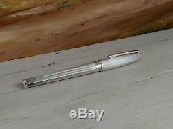 S. T. Dupont Olympio Silver Barley Rollerball Pen, EXCELLENT