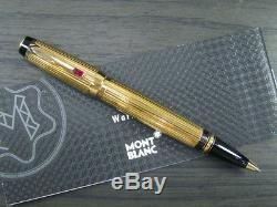 VERY RAREFantastic Montblanc Boheme Stripes Gold Plated Rouge Rollerball pen