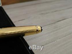 Vintage MONTBLANC Meisterstuck Solitaire Gold Plated 163 Rollerball Pen