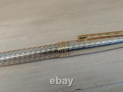 Vintage MONTBLANC Meisterstuck Solitaire Sterling Silver Rollerball Pen, READ
