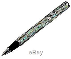 Vintage Xezo Mother-of-Pearl and Abalone Golden Gate Rollerball Pen. Serial